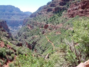 "Looking back on the ""easy"" part of N. Kaibab Trail"