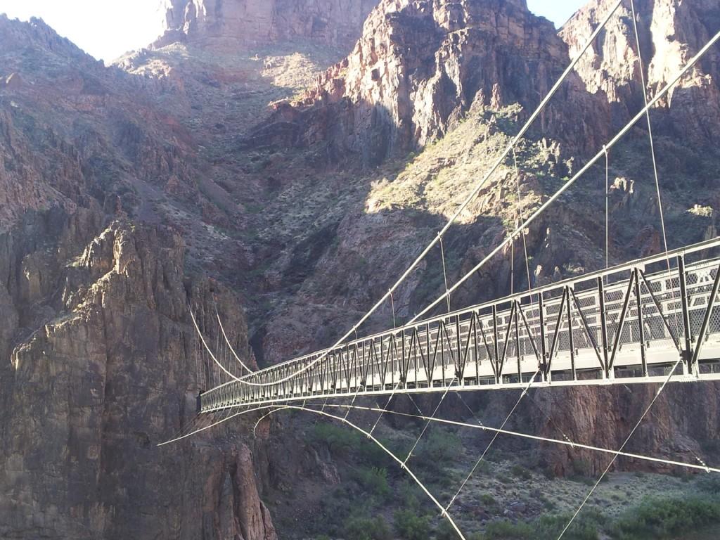 The Silver Bridge crossing the Colorado River