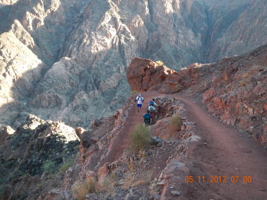 Marc Thompson descending S. Kaibab Trail