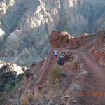 Marc Thompson descending S. Kaibab Trail