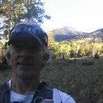 Early in the morning on Kachina.  Within a few hours we'll be running up Humphreys Peak behind the peak behind me.