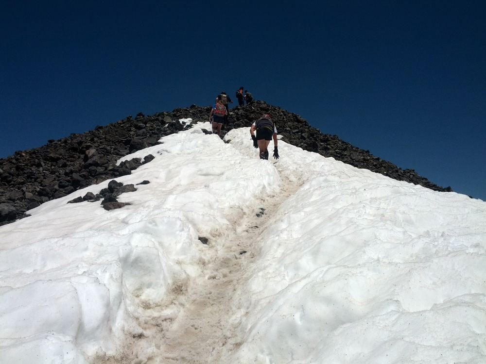 Nearing the summit of Humphreys Peak