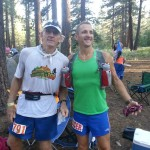 With my first safety runner, Rich McKnight, leaving Spooner Lake